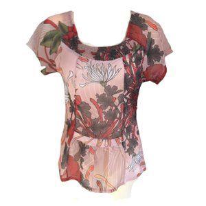 Smash! Barcelona floral peplum detail blouse